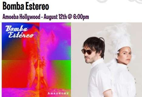 Bomba Estereo En Amoeba Music Store De Hollywood - rock en espa�ol - rockeros.net
