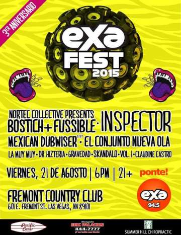 Exa Fest 2015 Inspector Nortec Collective Bostich Fussible Las Vegas Nv - rock en espa�ol - rockeros.net