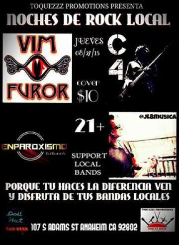 Noche De Rock Local Con Vim Furor-c4 - rock en español - rockeros.net