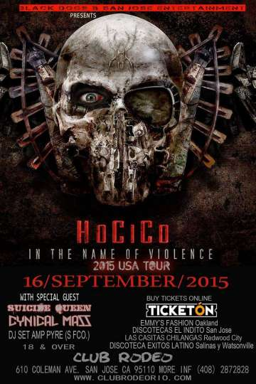 In The Name Of Violence 2015 Usa Tour Hocico - rock en espa�ol - rockeros.net