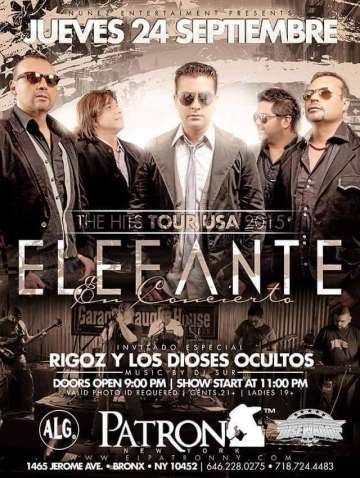 Elefante En Concierto The Hits Tour Usa 2015 - rock en espa�ol - rockeros.net