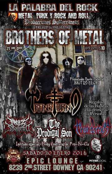 Brothers Of Metal Transtorno-angel Siniestro - rock en espa�ol - rockeros.net