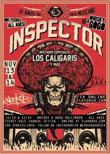 Inspector Los Caligaris En El Whisky A Go Go De Hollywood - rock en espa�ol - rockeros.net