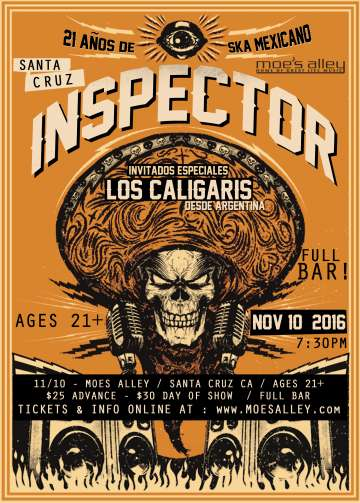 Inspector Y Caligaris En El Moes Alley De Santa Cruz California - rock en espa�ol - rockeros.net