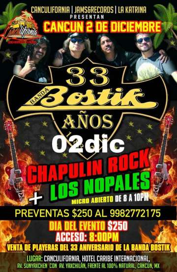 Banda Bostik En Cancun - rock en espa�ol - rockeros.net