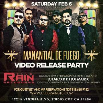 Manantial De Fuego Video Release Party - rock en espa�ol - rockeros.net