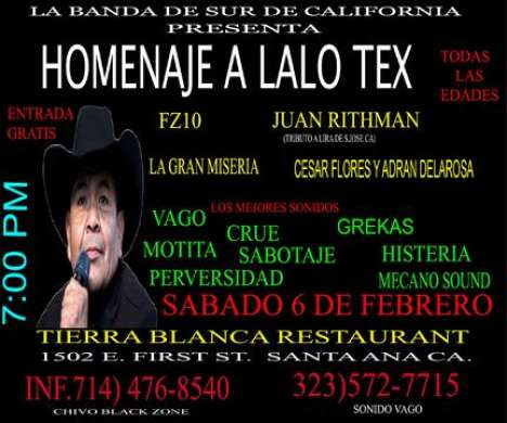 Homenaje A Lalo Tex - rock en espa�ol - rockeros.net