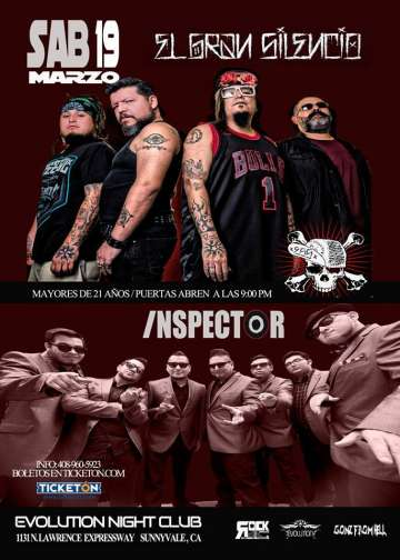 El Gran Silencio E Inspector En El Evolution Night Club De Sunnyvale Ca - rock en espa�ol - rockeros.net