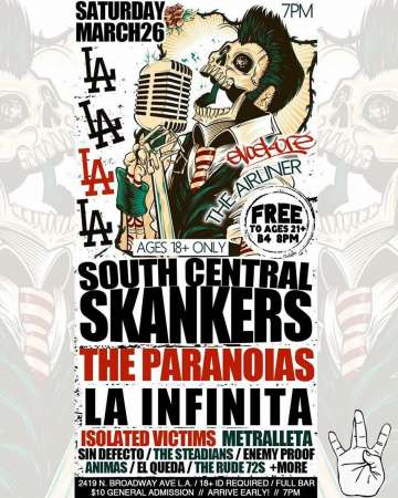 The Airliner South Central Skankers The Paranoias La Infinita Sin Defecto - rock en espa�ol - rockeros.net