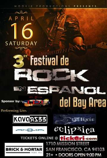 3er Festival De Rock En Español Del Bay Area En Brik And Motar De San Francisco - rock en español - rockeros.net