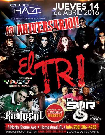 El Tri En Homestead Florida - rock en espa�ol - rockeros.net
