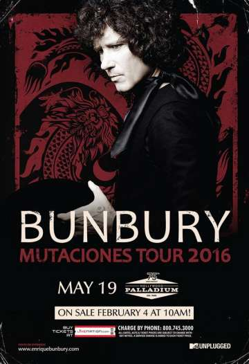 Bunbury Mutaciones Tour 2016 Los Angeles - rock en español - rockeros.net