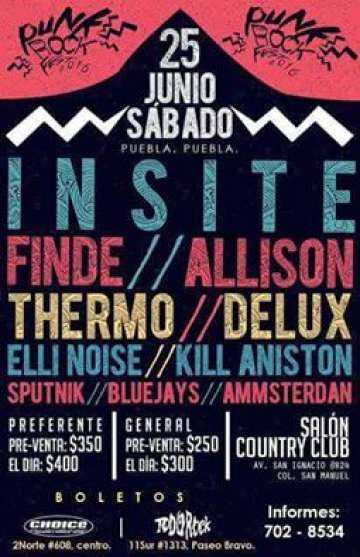 Punk Rock Fest 2016 Insite Finde Allison En Salon Country Club De Puebla - rock en espa�ol - rockeros.net