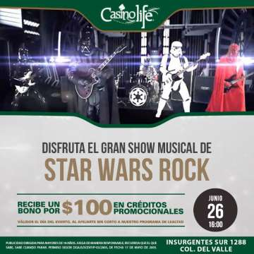 Star Wars Rock En El Casino Life De La Ciudad De Mexico - rock en espa�ol - rockeros.net