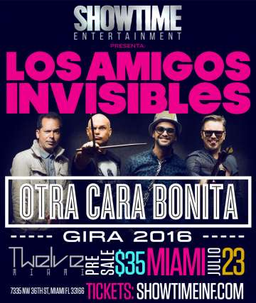 Los Amigos Invisibles En El Twelve Miami Florida - rock en espa�ol - rockeros.net