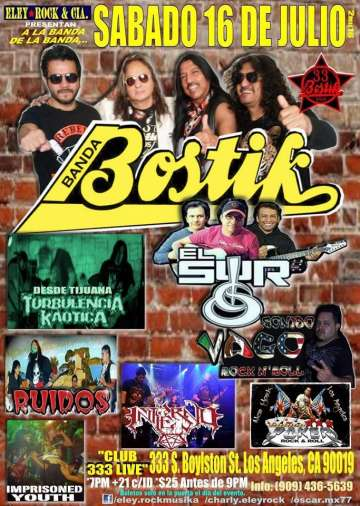 La Banda Bostik En Los Angeles - rock en espa�ol - rockeros.net