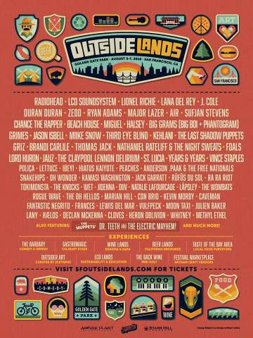 Outsidelands 2016 Radiohead Zedd Air Sufjan Stevens Golden Gate Sf - rock en español - rockeros.net