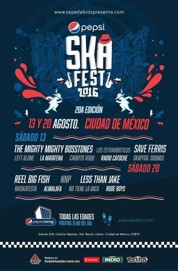 Pepsi Ska Fest Reel Big Fish Maskatesta Almalafa Nnp Pepsi Center De Mexico Df - rock en espa�ol - rockeros.net