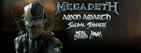 Megadeth And Guests Amon Amarth-sendencies-metal Church And Havok - rock en español - rockeros.net