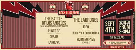 Rock Al Garden 2016 New York - rock en espa�ol - rockeros.net