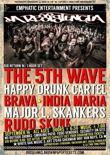 La Resistencia The 5th Wave Happy Drunk Cartel - rock en espa�ol - rockeros.net