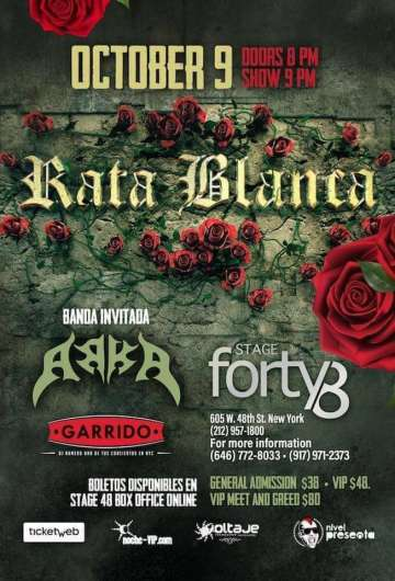 Rata Blanca En New York - rock en espa�ol - rockeros.net