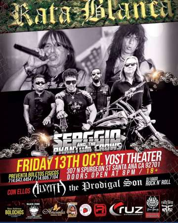 Rata Blanca Y Serggio And The Phantomcrows En Santa Ana Ca - rock en espa�ol - rockeros.net
