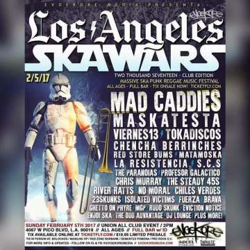 Los Angeles Skawars Mad Caddies Maskatesta Viernes 13 Tokadiskos - rock en espa�ol - rockeros.net