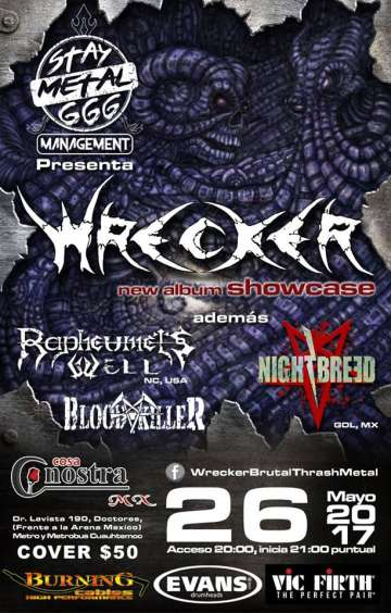 Wrecker New Album Showcase - rock en espa�ol - rockeros.net