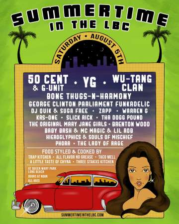 Summertime In The Lbc 50 Cent Yg  Wu Tang Clan August 5 2017 - rock en espa�ol - rockeros.net