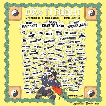 Day N Night September 8 9 10 2017 Travis Scott Chance The Rapper Kendrick Lamar - rock en espa�ol - rockeros.net