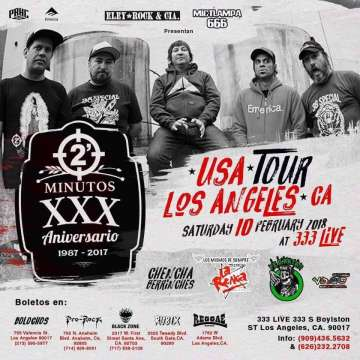 2 Minutos 30 Aniversario En Los Angeles - rock en espa�ol - rockeros.net