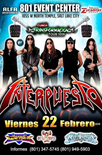 Cuarta Transformacion Tour 2019 Interpuesto En Salt Lake City - rock en espa�ol - rockeros.net