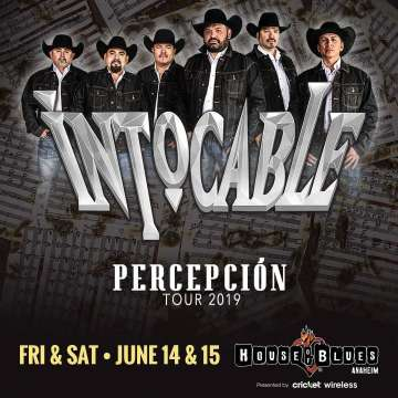 Intocable Tour 2019 Percepción En El House Of Blues Anaheim Ca - rock en espa�ol - rockeros.net