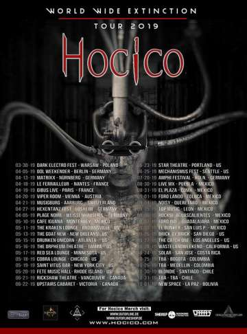 World Wide Extinction Tour 2019 Hocico En San Diego Us - rock en espa�ol - rockeros.net